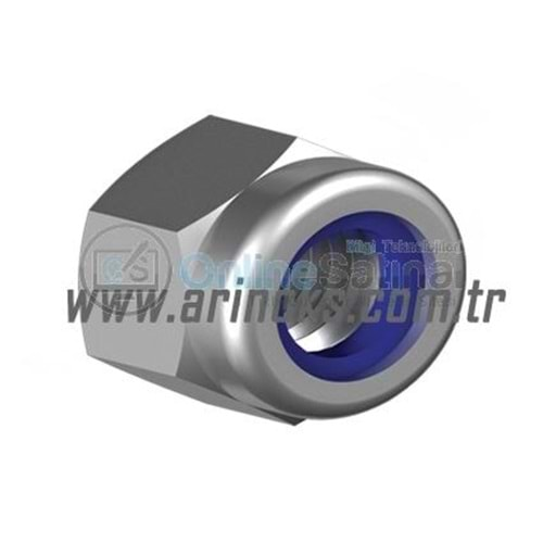 Fiberli Somun (A2) DIN 985 304 Kalite SELF-LOCKING HEXAGON NUTS