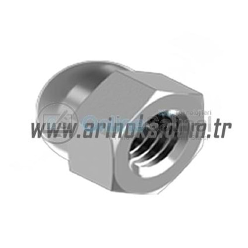 Kör Somun (A2) DIN 1587 304 Kalite HEXAGON DOMED CAP NUTS